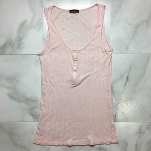 Victorias Secret Moda Henley Cotton Sleeveless Top